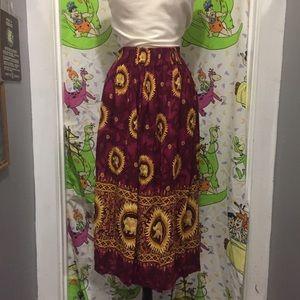 Vintage Elephant Print Skirt